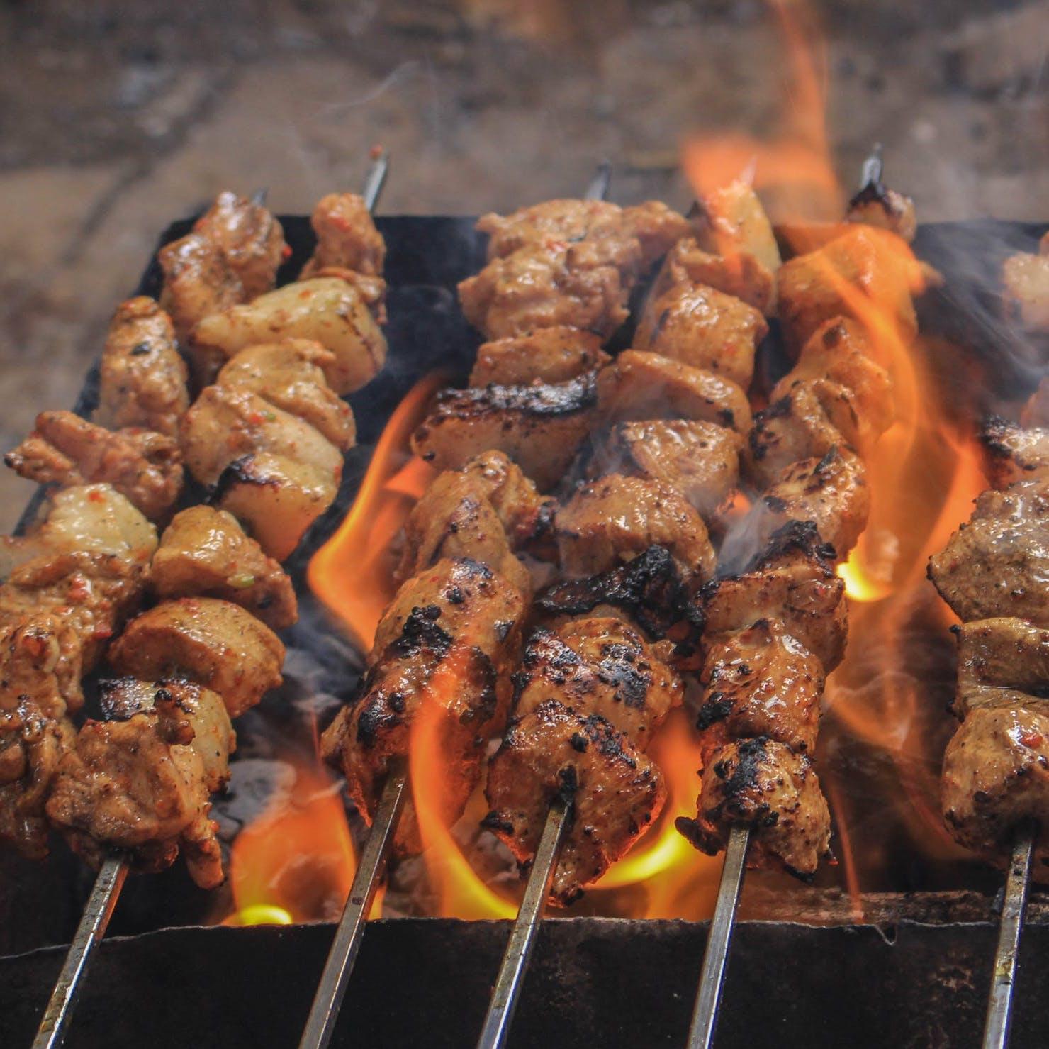 Brochettes au barbecue