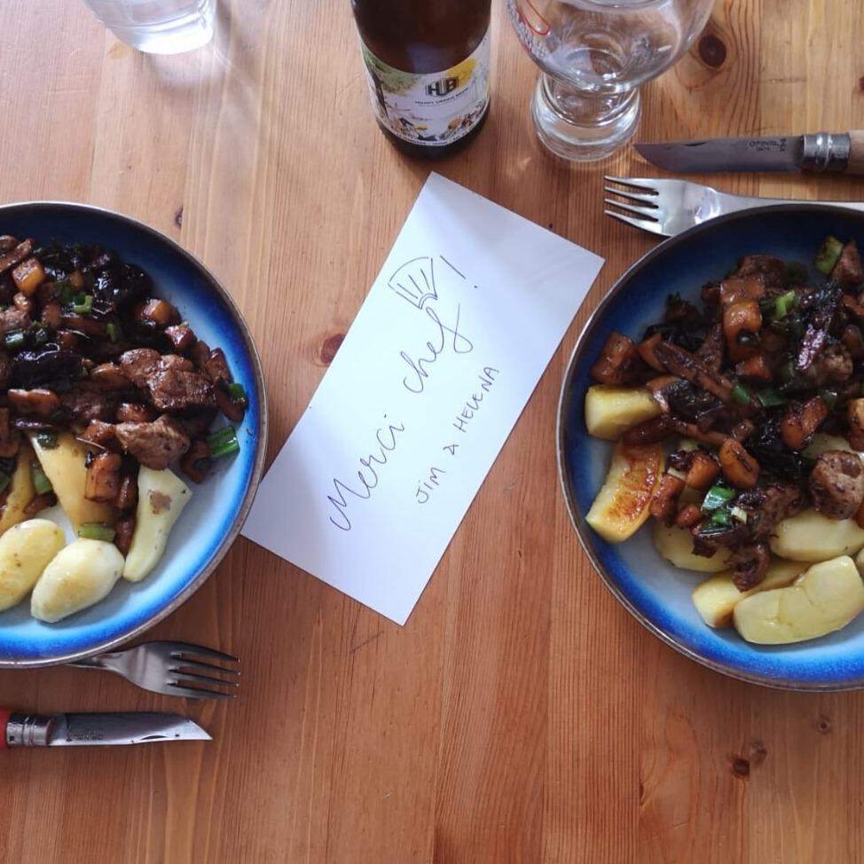 Saute de porc cuisiné au Miam